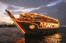 Dubai | United Arab Emirates | Evening Dhow Dinner Cruise Dubai dinner cruise Dubai evening tour Evening Dubai dinner cruise